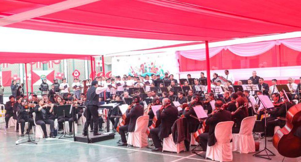 La Orquesta Sinfónica Nacional ofreció música académica internacional, popular y tradicional peruana junto a los reclusos que participan en el programa Orquestando. (Ministerio de Cultura)