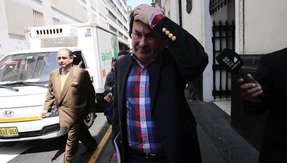 """""""Todo está de acuerdo a Ley, es un crédito, no es un regalo de nadie"""", asegura abogado Horacio Cánepa, quien es investigado en el caso de los arbitrajes que favorecieron a Odebrecht (Foto. GEC)"""