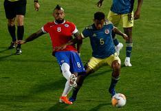 Colombia empató 2-2 con Chile en el Nacional de Santiago por Eliminatorias Qatar 2022