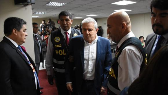 Luis Castañeda Lossio, tres veces alcalde de Lima, cumple actualmente prisión preventiva. (Foto: Poder Judicial)