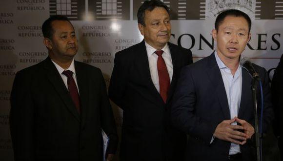 Bienvenido Ramírez, Guillermo Bocángel y Kenji Fujimori fueron suspendidos en sus cargos de congresista tras difusión de videos. (Foto de archivo: Alonso Chero/GEC)
