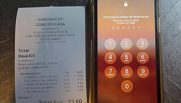 Los clientes de un restaurante escaparon del local antes de pagar, pero olvidaron su costoso celular. (Foto: Guachinche Como En Casa / Facebook)