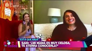 Mamá de Said Palao dice sentirse contenta con la relación de su hijo y Alejandra Baigorria