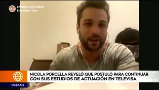 Nicola Porcella espera respuesta del CEA de Televisa para iniciar sus estudios de actuación en México