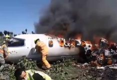 Mueren 6 militares en accidente aéreo en México | VIDEO