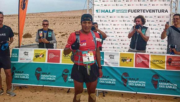 El corredor peruano ocupó la primera posición durante dos de las tres etapas de la media maratón.