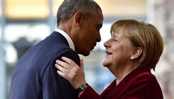 """Obama en Berlín: """"Si fuera alemán, votaría por Angela Merkel"""""""