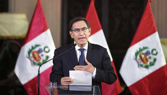 Vizcarra anunció el cierre del Congreso a las 5:40 p.m. Según la última encuesta de El Comercio-Ipsos, el 56% de peruanos apoyaba esta medida en julio. (Foto: Giancarlo Ávila/ GEC)