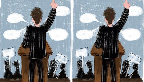 """""""El ego, en algunas circunstancias, es necesario, casi indispensable. ¿Pasa lo mismo cuando aquello que se quiere alcanzar involucra a otros?"""". (Ilustración: Giovanni Tazza)."""