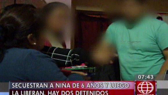 Ate: dos detenidos por secuestro de niña que luego fue liberada