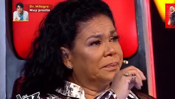 """Eva Ayllón lloró en la reciente edición de """"La Voz Perú"""". (Foto: Captura Latina)."""