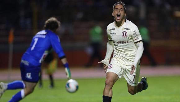 Universitario vs. Sport Huancayo: Alejandro Hohberg marcó el 1-0 con este potente remate de penal | VIDEO. (Foto: Francisco Neyra)