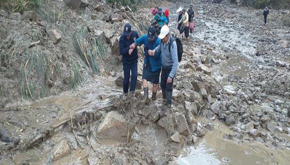 Huaico afectó varios tramos de pavimento (Foto: Andina)