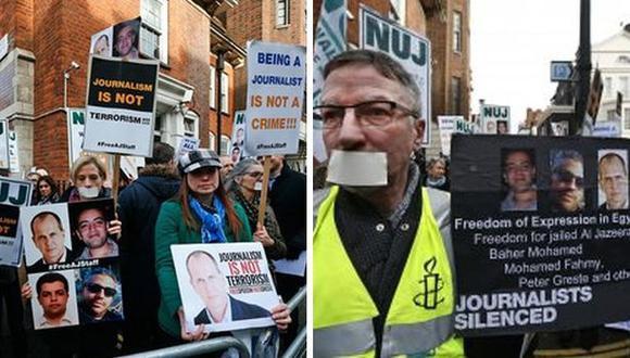 Egipto: reanudan juicio a periodistas por dar información falsa