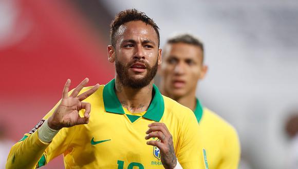 Con Hat Trick de Neymar, Brasil venció 4-2 a Perú en las Eliminatorias Qatar 2022 jugado en Lima. (Foto AFP)