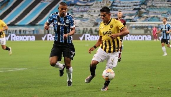Guaraní vs. Gremio se enfrentaron en partido por la Copa Libertadores 2020.  (Foto: Twitter @ClubGuarani)