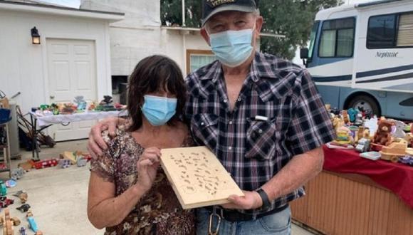 Mike y Judy Sullivan confeccionan juguetes de madera para regalar en Navidad. (Foto: GofundMe)