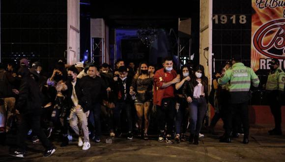 La fiesta se llevó a cabo durante el horario de inmovilización social obligatoria. (Foto: Joel Alonzo/ @photo.gec)