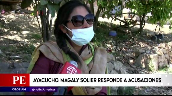Magaly Solier responde entre lagrimas a acusaciones