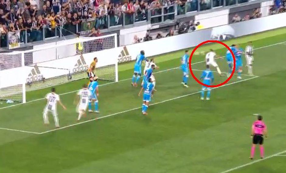 Juventus vs. Napoli: Cristiano Ronaldo y Leonardo Bonucci protagonistas del tercer gol de la Juventus. (Foto: Captura de pantalla)