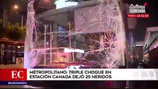 Metropolitano: triple choque dejó 25 heridos