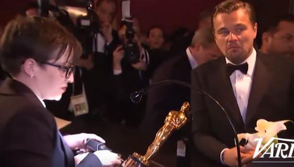 Así esperó DiCaprio a que el Oscar tenga su nombre [VIDEO]