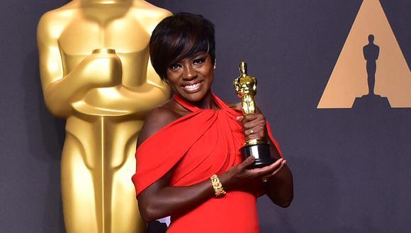 """La actriz durante los premios Oscars en el 2017. Este año, se encuentra nominada a los Globos de Oro por su personaje en """"La madre del blues"""". (Foto: FREDERIC J. BROWN / AFP)"""