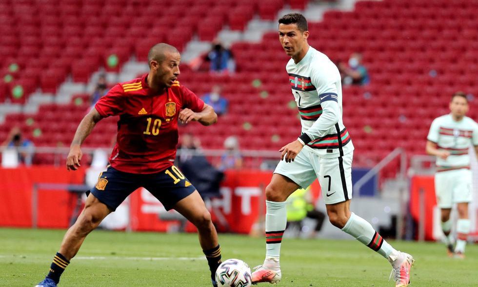 España vs. Portugal: las imágenes del partido en el Wanda Metropolitano | Foto: EFE
