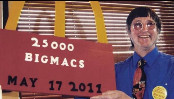 Desde mayo de 1972, Gorske come, religiosamente, dos hamburguesas. (Foto: Captura/Instagram)