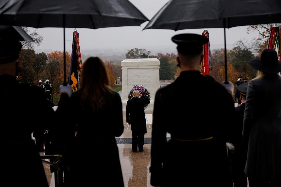 Donald Trump, presidente de Estados Unidos, durante la ceremonia. (Foto: Reuters)