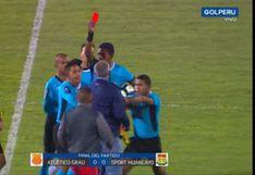Sport Huancayo vs. Atlético Grau: Wilmar Valencia fue expulsado tras airado reclamo al árbitro en Copa Bicentenario [VIDEO]