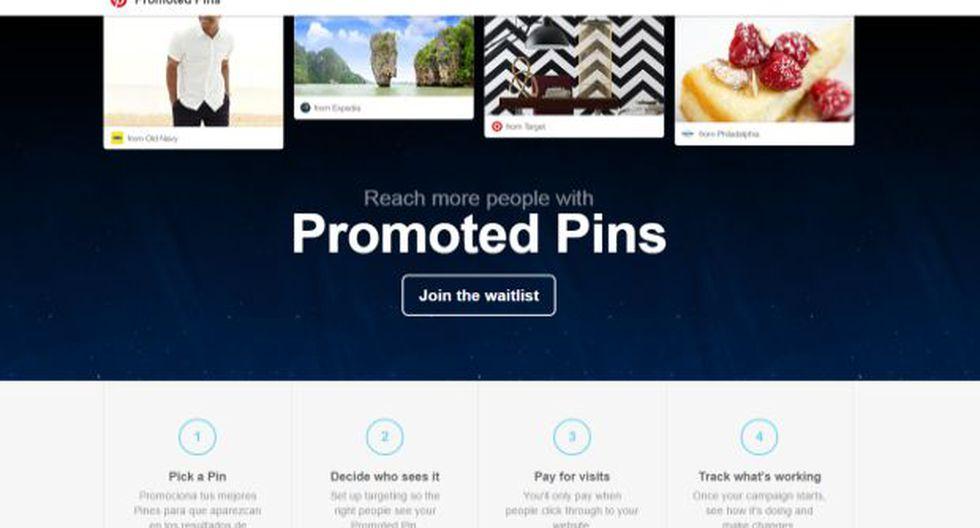 Pinterest comienza a probar los pines promocionados