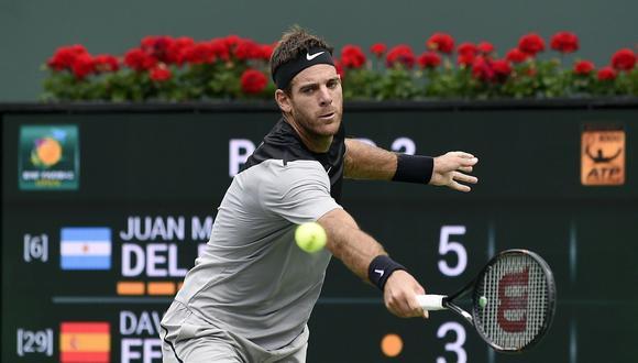 Del Potro ganó 2-0 a David Ferrer y avanza en Indian Wells. (Foto: Agencias)