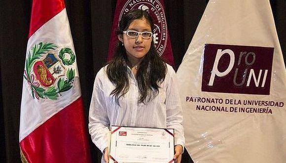 UNI: primera mujer que ingresa en el puesto uno tiene 15 años