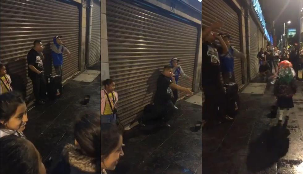 El video de Facebook que se hizo viral por la espectacular demostración de talento de dos amigos en una calle de México. Así reaccionaron los asombrados usuarios de las redes sociales. (Foto: Captura)