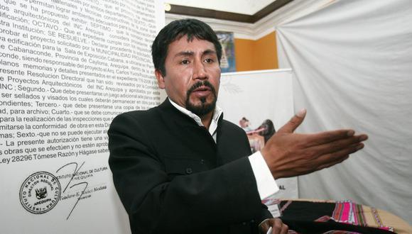 Cáceres se dirigió a los residentes del Valle Tambo y enfatizó que la ex gobernadora de la región, Yamila Osorio habría vendido más de 49 mil hectáreas a Southern Perú. (Foto: GEC)