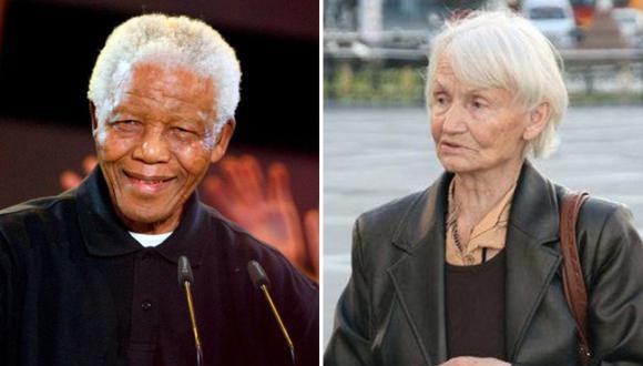 Nelson Mandela y Margon Honecker.