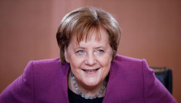 La canciller alemana, Angela Merkel, asiste a la reunión semanal del gabinete en la Cancillería en Berlín el 13 de febrero de 2019. (Odd ANDERSEN / AFP).
