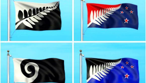 Una de estas cuatro será la nueva bandera de Nueva Zelanda