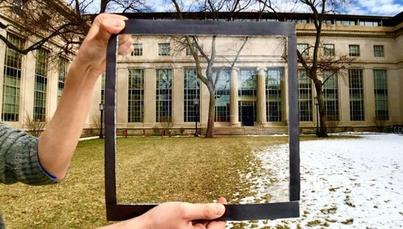 Una ventana con la lámina. (Foto: MIT)