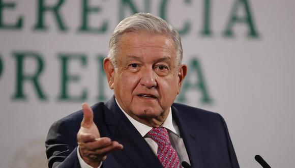 AMLO reapareció por sorpresa en las ruedas de prensa diarias del Gobierno de México, donde no se le veía desde que dio positivo por coronavirus el 24 de enero. (EFE/ José Méndez).
