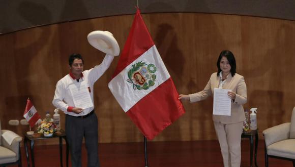 Pedro Castillo y Keiko Fujimori debatirán en la ciudad de Arequipa el domingo 30 de mayo. (Foto: Renzo Salazar/GEC)