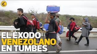 El éxodo venezolano en Tumbes