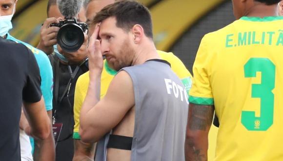 Lionel Messi y la dura crítica tras la suspensión del Argentina vs. Brasil por Eliminatorias. (Foto: EFE)
