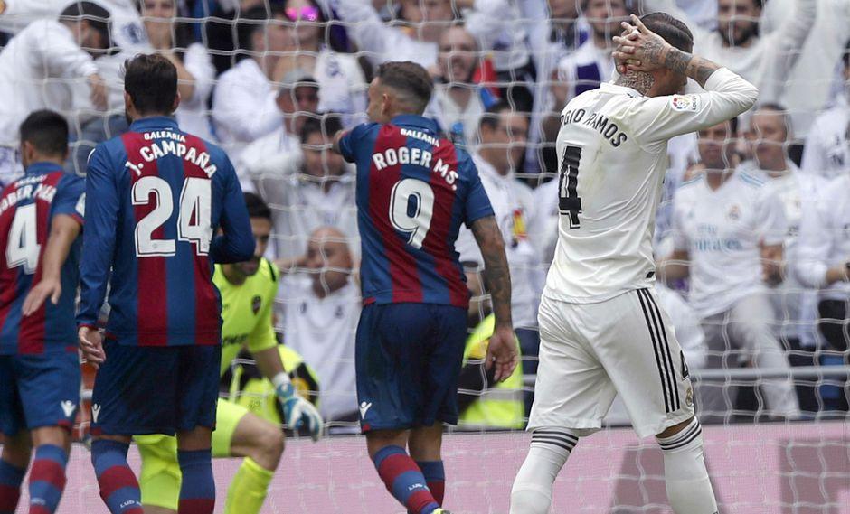 Real Madrid perdió 2-1 ante Levante en el Santiago Bernabéu por la Liga española | VIDEO. (Foto: AFP)