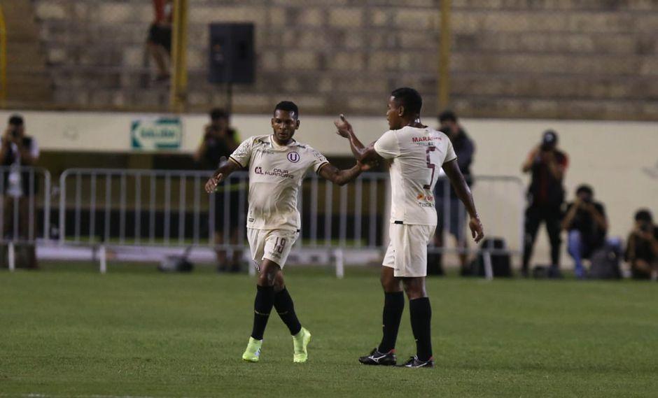 Universitario vs. Pirata FC: Alberto Quintero y el golazo de volea para el 1-0 en el Monumental | Foto: Violeta Ayasta/GEC