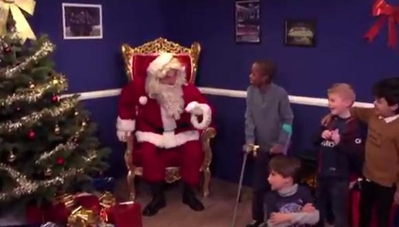 Gianluigi Buffon le dio una gran sorpresa a un grupo de niños por Navidad. (Foto: Captura).