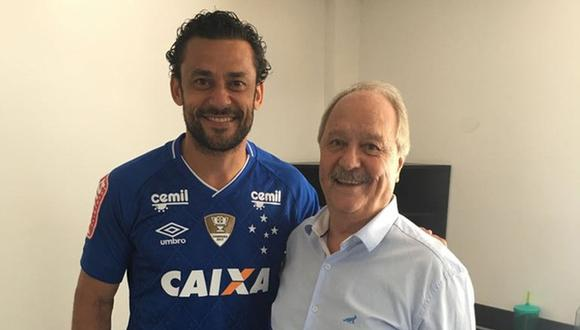 Fred, conocido a nivel mundial por su bajo índice goleador con Brasil en el Mundial 2014, sonaba como el reemplazante de Paolo Guerrero en Flamengo. Sin embargo decidió unirse a Cruzeiro. (Foto: Twitter)