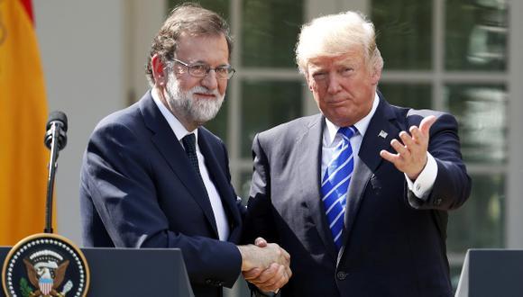 Mariano Rajoy visitó a Donald Trump en la Casa Blanca este martes. (Foto: AP)