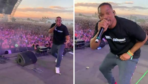Will Smith sorprende al cantar en Coachella junto a su hijo Jaden Smith (Foto: Instagram)